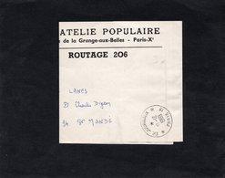 Bande Pour Journaux Fermée - PHILATELIE POPULAIRE - Cachet P.P. JOURNAUX - PARIS 1969 - Journaux