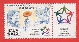 2003 (2673) Il Servizio Civile Nazionale Con Bandella - Leggi Il Messaggio Del Venditore - 6. 1946-.. Republik