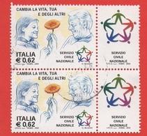 2003 (2673) Il Servizio Civile Nazionale Con Bandella In Coppia - Leggi Il Messaggio Del Venditore - 6. 1946-.. Repubblica
