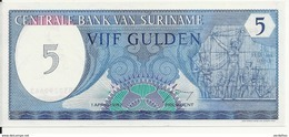 SURINAME 5 GULDEN 1982 UNC P 125 - Surinam