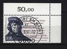 BUND - Mi-Nr. 1555 Rechte Obere Ecke Gestempelt - [7] République Fédérale