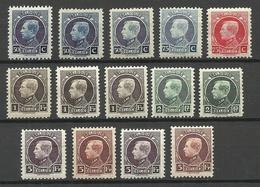 BELGIEN Belgium 1921-1924 Lot King Albert I Michel 165 - 167 & 181 - 183 & 186 * - Belgique