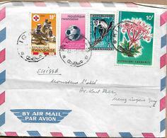RWANDA, REPUBLIQUE RWANDAISE 1967 Cover Sent To Suisse 4 Stamps COVER USED - Rwanda