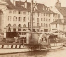 ANNECY 1852  - Photo Cdv DEMAY Port Et Chateau D - Bateau - Photographs