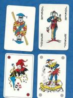 Lot De 4 Cartes à Jouer JOKER Toutes Différentes 2 Recto Publicitaires Crédit Lyonnais Et Drouot Association. - Group Games, Parlour Games