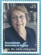Uruguay 2019 ** Sello  Dra. Maria Adela Pellegrino. Demografía, Migración. - Mujeres Famosas