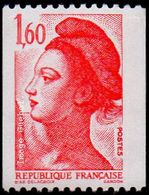 France N° 2192 ** Liberté De Gandon - Le 1.60 Fr De Roulette Rouge - France