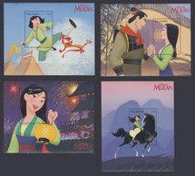 GAMBIA 1998 - Disney Mulan - Mi B384-7; CV=36 € - Disney