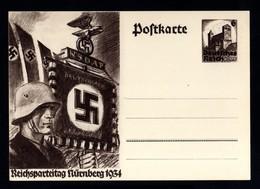 16549-GERMAN EMPIRE-.MILITARY PROPAGANDA POSTCARD REICHSPARTEITAGE Nurnberg.1934.WWII.DEUTSCHES REICH.Postkarte.Carte - 1939-45