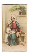 SANTINO Pieuse Image Religieuse Holy Card Gesù Bambino San Giovanni Battista Maria Vergine Serie NB 6094 - Religion & Esotericism