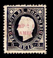 ! ! Mozambique Company - 1892 D. Luis 05 R - Af. 01c - MH - Mozambique
