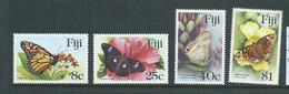 Fiji 1985 Butterfly Set Of 4 MNH ,  40c & $1 With Small Faults - Fiji (1970-...)