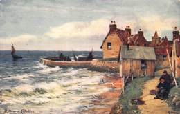 ST MONANS~FIFESHIRE COAST~SCOTLAND ABERCROMBIE-FIRTH OF FOURTH-TUCK #7230 ARTIST POSTCARD 42715 - Fife