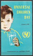 PAKISTAN BROCHURE 1967 WITH STAMP UNIVERSALS CHILDREN DAY - Pakistan