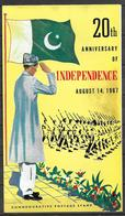 PAKISTAN BROCHURE 1967 WITH STAMP 20TH ANNIVERSARY OF INDEPENDENCE - Pakistan