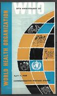 PAKISTAN BROCHURE WITH STAMPS 1968 WORLD HEALTH ORGANIZATION - Pakistan