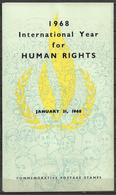 PAKISTAN BROCHURE WITH STAMPS 1968 INTERNATIONAL YEAR OF HUMAN RIGHTS - Pakistan