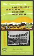 PAKISTAN BROCHURE WITH STAMP 1968 AGRICULTURAL UNIVERSITY EAST PAKISTAN - Pakistan