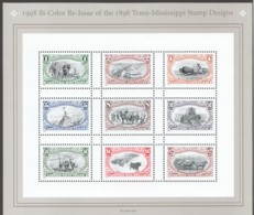 1998  Trans-Mississippi Stamps Century - Sheet Of 9 Different Sc 3209  MNH - Vereinigte Staaten