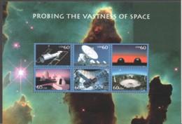 2000 Probing The Vastness Of Space  Souvenir Sheet Of 6 Diffenet  Sc 3409  MNH - Vereinigte Staaten