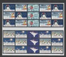 2019 Canada Christmas Seals Lung Association 2 Blocks Of 12 - Christmas
