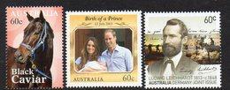 AUSTRALIA, 2013  INDIVIDUAL ISSUES 3 MNH - 2010-... Elizabeth II
