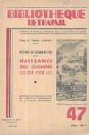 HISTOIRE DES CHEMINS DE FER ( NAISSANCES ) CUGNOT, STEPHENSON, CHEMIN DE FER SAINT ETIENNE LYON, MARC SEGUIN, THE ROCKET - Spoorweg