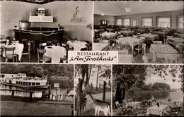 ! S/w Ansichtskarte Berlin Tegel , Restaurant Am Forsthaus - Tegel