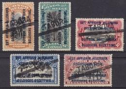 "Congo Belge - Timbre De 1915 Surch. ""Est Africain Allemand Occupation Belge / …"" Annulations Complaisance TABORA - Congo Belga"