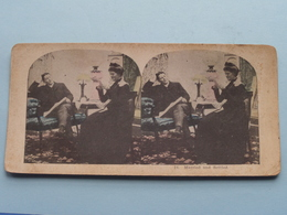 24 - MARRIED And SETTLED ( Carte STEREO Card PHOTO ) Zie / Voir / See Photos ) ! - Photos Stéréoscopiques