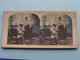 3 - THIRD CALL : MOTHER WANTS TO KNOW IF HE ' IS COMING ( Carte STEREO Card PHOTO ) Zie / Voir / See Photos ) ! - Photos Stéréoscopiques