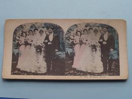 15 : THE WEDDING MARCH ( Carte STEREO Card PHOTO ) Zie / Voir / See Photos ) ! - Photos Stéréoscopiques