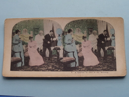 7 : A QUARTER To TWO In The MORNING ( Carte STEREO Card PHOTO ) Zie / Voir / See Photos ) ! - Photos Stéréoscopiques