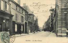 REIMS  La Rue Chanzy Café St Denis Librairie Catholique ..RV - Reims