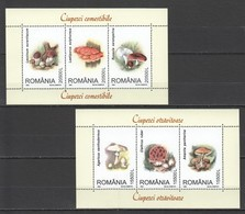 RM016 2003 ROMANIA NATURE MUSHROOMS CIUPERCI 2KB MNH - Paddestoelen