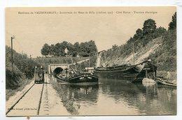 CPA  51 : VAUDEMANGES  Canal Avec Péniche Et Traction électrique    A  VOIR   !!!!!! - France