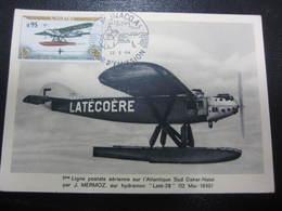 Carte 1er Jour D'émission Ligne Postale Atlantique Sud Par Mermoz 22 Mai 1964 - Aerei