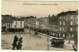 2453-71 - CHAUFFAILLES  - Grande Rue Et Place De L'église - Francia