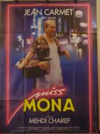 Aff Ciné Orig MISS MONA Medhi Charef Jean Carmet 1987 120x160 César - Plakate & Poster