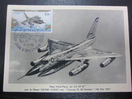 Carte 1er Jour New York Paris Sur Convair B 58 22 Mai 1964 - 1946-....: Era Moderna