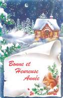 Format 8.5/13.5 -    Bonne Année - Paysage Ecureuil   H 860 - Año Nuevo