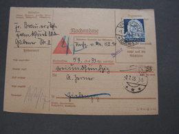 DR Nachnahme EF 1935 - Allemagne