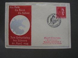 Ein Volk Umschlag Aus Braunau SST 1938   Adolfs Geburtstag - Deutschland