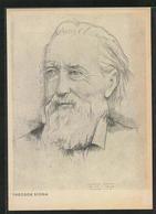 Künstler-AK Portraitzeichnung Theodor Storm - Escritores