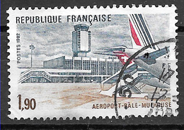 FRANCE 2203 Aéroport Bâle Mulhouse Swissair Air France . - Usati