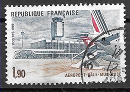 FRANCE 2203 Aéroport Bâle Mulhouse Swissair Air France . - Gebruikt