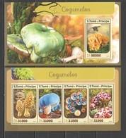 ST1435 2016 S. TOME E PRINCIPE PLANTS MUSHROOMS 1KB+1BL MNH - Hongos