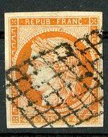 N°5 40ct Orange. Cote 500 €. Oblitéré. Lire Description - 1849-1850 Ceres