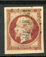N°17A 80ct Carmin. Cote 70 €. Oblitéré. Lire Description - 1853-1860 Napoléon III