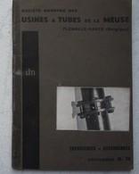 Cataloguex2 FLEMALLE HAUTE Sclessin Jemappes Usine à Tubes De La Meuse Tuyauterie Et Assemblages Catalogue D Et G39 - Oude Documenten